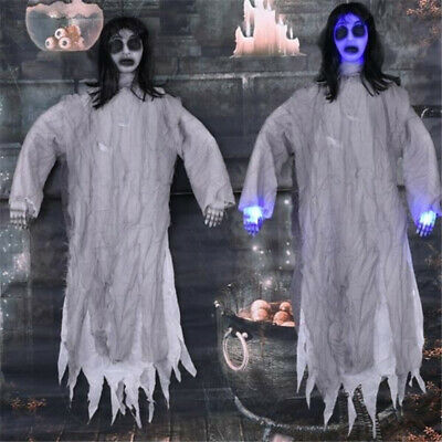 Scary Sound Light Hanging Ghost Haunted House Bar Halloween Party Props Decor
