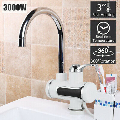 360° Electric Fast Instant Faucet Tap Hot Cold Water Heater LED Display zs