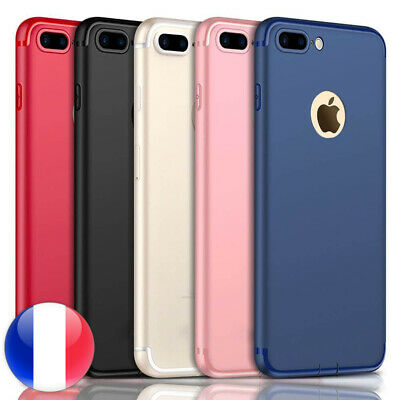 Luxe Ultra Mince Slim Silicone Coque Housse IPHONE 6/7/8/Plus XR/X/Xs/Max/SE/5