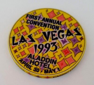 Las Vegas Aladdin First Annual 1993 CC&GTCC Convention Casino Chip - UNC