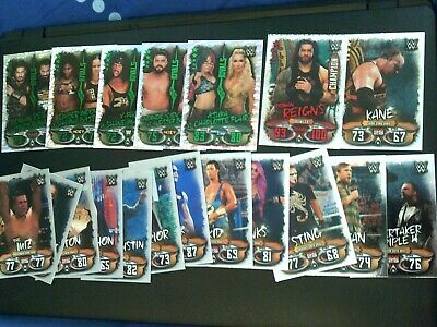 Topps WWE Slam Attax - LIVE 19 Cards + 1 Champion + 5 Rivals & 13 Shiney Rare