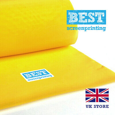 BEST High Qualty Screen Printing Mesh 120T / 305 mesh yellow (x1m) FAST DELIVERY