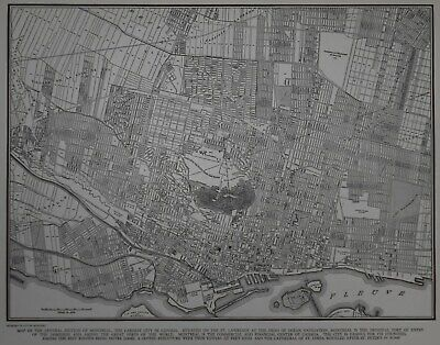 Great Vintage 1940 OLD World War WWII City Map Montreal, Quebec, Canada L@@K!