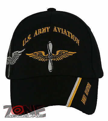 Army Aviation Division Shadow Black Embroidered Cap Licensed CAP566 Hat U.S