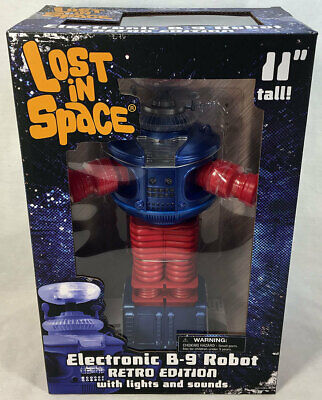 Diamond Select LOST IN SPACE Electronic Lights & Sounds Retro Edition B-9 Robot