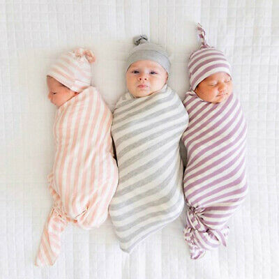 Newborn Baby Infant Knit Swaddle Wrap Swaddling Blanket Warm Kids Sleeping Bag