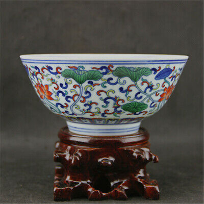 Chinese ancient antique hand make Lotus pattern  Porcelain bowl a96