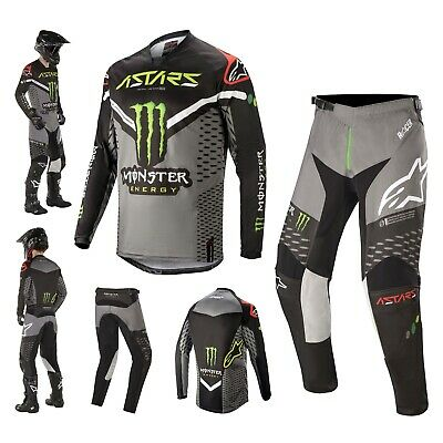 Alpinestars Racer Raptor Monster Energy Combo MX Jersey Crosshose
