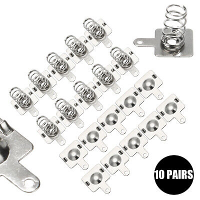 10 Pairs Spring Battery Contact Plate Replacement Kit For AA AAA Batteries