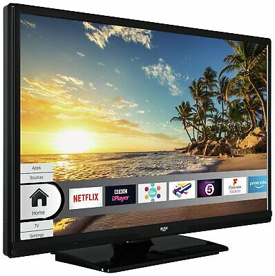 Bush DLED24HDSDVD 24 Inch HD Ready 720p Smart WiFi LED TV/DVD Combi - Black