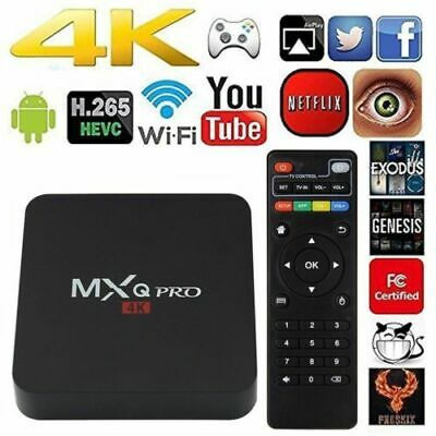 MXQ PRO Android 7.1 Quad Core Smart TV BOX 1+8G WIFI HDR10 4K 3D Movies Films