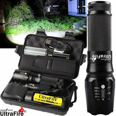 Ultrafire X800 250000LM Flashlight 18650 T6 LED Tactical Military Torch Headlamp