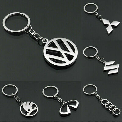 New 3D Howllow Out Car Logo Keychain Metal Emblem Pendant Key Holder Keyring