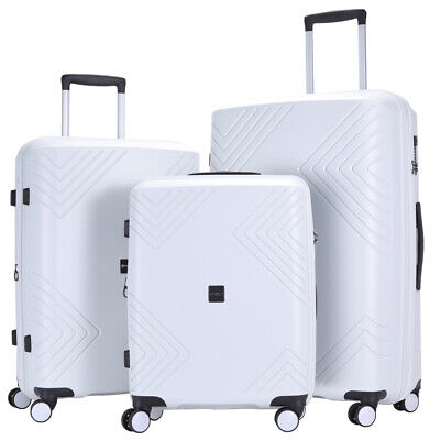 GinzaTravel PP Luggage set 3 piece Lightweight Spinner Expandable Suitcase