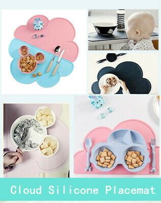 Flexible And Waterproof Cloud Type Silicone Placemat For Children's Tableware