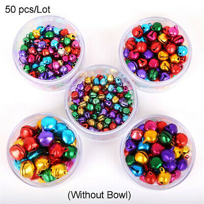 50Pcs Mixed Jingle Bells Iron Loose Beads For Christmas Tree Decoration