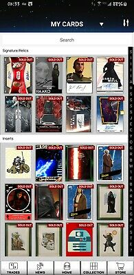 Topps Star Wars Card Trader - Any 9 Cards From My Account for $3.00 - JAYSITH14
