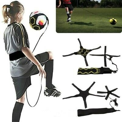 Football Kick Trainer Skill Soccer Training Equipment Adjustable Waist Belt FN