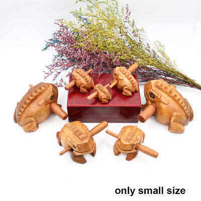 Symbol Art Figurines Musical Instrument Wooden Block Lucky Craft Money Frog