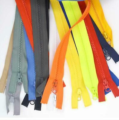 Chunky Open Ended Zip Zipper Plastic Teeth Close End - Choice of 13 Colours 30''