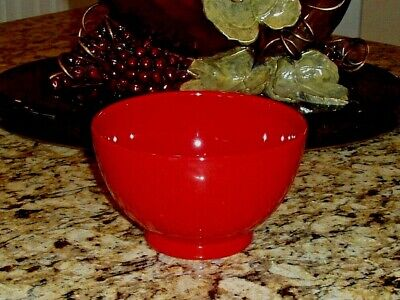 Impact Red by Vista Alegre Portugal Footed Earthenware Multi Purpose Bowl 5""