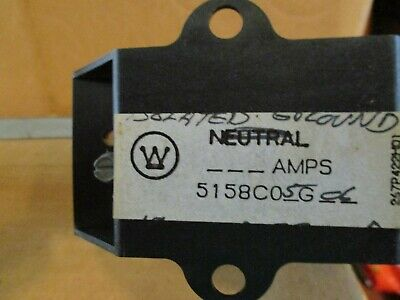 New Westinghouse Eaton Cutler Hammer Isolated Neutral Ground Bar 5158C05G06