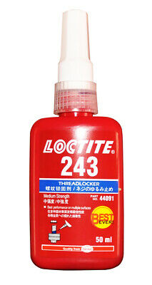 Loctite 243 Medium Strength Threadlock Best Ever Metal Adhesive 50 Ml Uk Seller