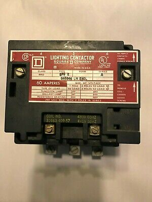 New Square D 3 Pole 60 Amp Lighting Contactor 8903Spg2