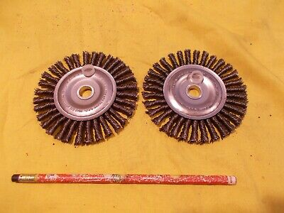 "2 pc LOT of KNOTTED WIRE WHEELS 4"" x 1/2"" hole abrasive ADVANCE USA 00862"
