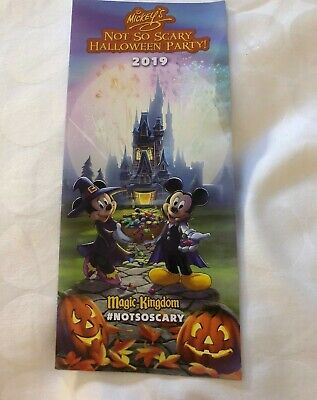 2019 Mickey's Not So Scary Halloween Party MNSSHP Disney Park Map & Times Guide