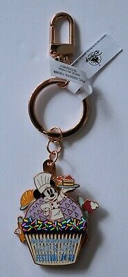 Disney Parks 2019 Epcot Food and Wine Festival Chef Minnie Mouse Keychain NEW