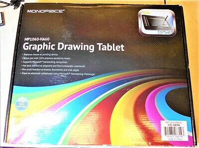 Monoprice Mp1060-Ha60 Graphic Drawing Tablet **Open Box** (Pd12)