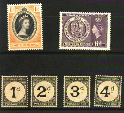 Lot 603 British Colonies Northern Rhodesia Old 18 Stamps Collection Taxe Yv 1/4