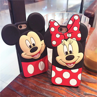 Mickey Minnie Case With Pop Up Holder Phone iPhone 7 8Plus X XS XR Cases Socket