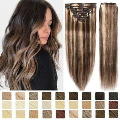 CLEARANCE Clip in on Human Hair Weave Real Remy Hair Extensions Highlight Skin F