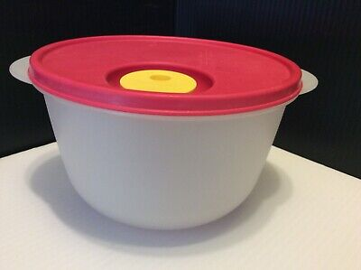 Tupperware Crystalwave Microwave Container BowlLarge 8 1/2 Cups W/Red Vent Lid