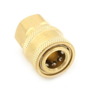 """Metal 1/4"""" NPT Brass Quick Connect Coupler For Pressure Washer In UK DRF"""