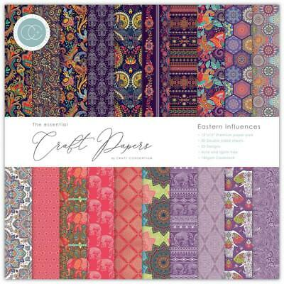 """Craft Consortium 12"""" Paper Pad Eastern Influences  30pg, Double Sided"""