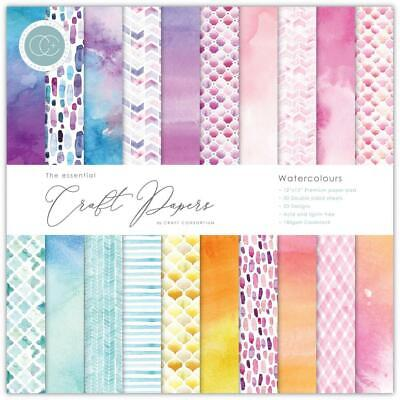 "Craft Consortium 12"" Paper Pad Watercolours  30pg, Double Sided"