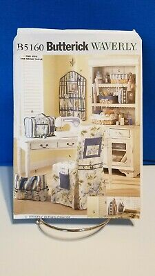 Butterick WAVERLY Pattern B5160 ~ SEWING ROOM ACCESSORIES ~ Chair Cover~ More
