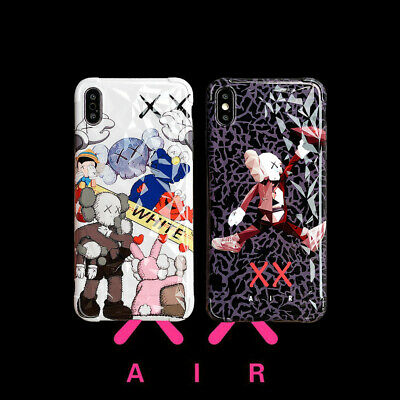 Funny Cartoon Kaws Soft Thin Phone Case Cover For iPhone X 6s 7 8Plus XR XsMax