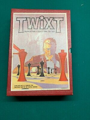 Vintage 1962 TWIXT Strategy Board Game 3M Bookshelf Series 100% Complete.