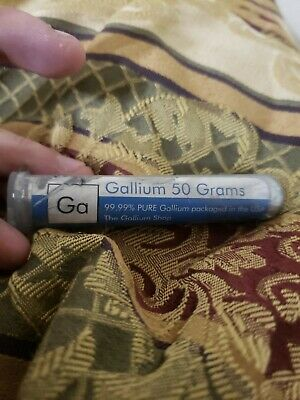 99.99% Pure 50g Gallium Element w/Molded for DIY Mould Melting Point 86F 30C