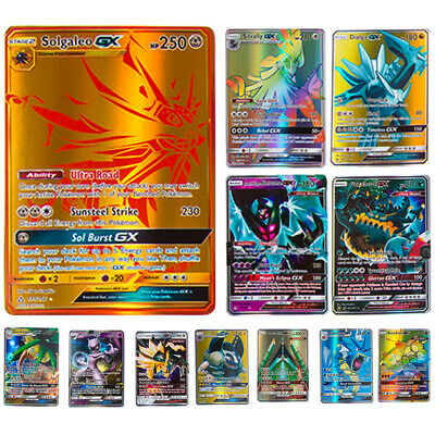200pcs GX Pokemon Card 195GX + 5MEGA Holo Flash Trading GX Cards Lot Kids Gift