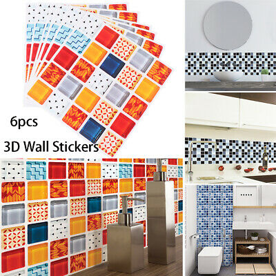 tile sticker Kitchen Mural Mosaic Diagonal Sticker Floor Tiles Wall Decals