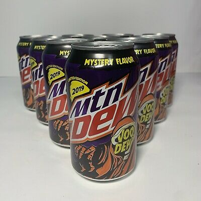 One 12 oz Can Mountain Dew Voodew Limited Edition Voodoo Soda Beverage Upopened