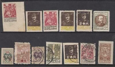 Central Lithuania hi val selection 13 diff stamps cv $23