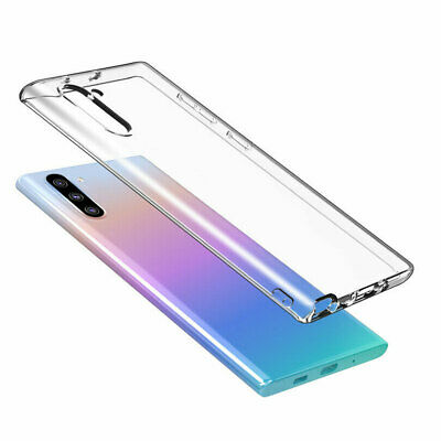 Clear Silicone Shockproof Case For Samsung Galaxy Note 10 / Note 10+ Plus Phone