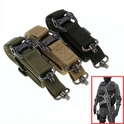 "Detach QD 1 or 2Point Multi Mission 1.2"" Rifle Sling Adjust Retro Tactical Quick"