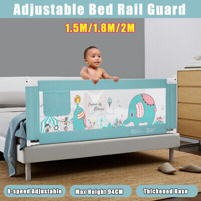 1.5/1.8/2M 94cm Adjustable Kids Child Bed Rail Bed Guard Toddler Safety Bumper